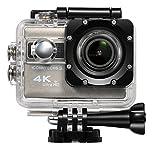 ICONNTECHS IT(JP) 4K スポーツ 防水 アクションカメラ 2インチ液晶 170度広角レンズ フル HD 1080P 2000万画素 Sony センサ WiFi HDMI 使用できる カムコーダー 自転車 ヘルメット 水泳 スキー ダイビング エクストリーム スポーツ 水中撮影 豊富なアクセサリー 付き(灰)