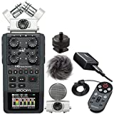 Zoom H6 Handy Six Track Recorder with Interchangeable Microphone System, APH-6 Accessory Kit and Ivation Hot Shoe Adapter
