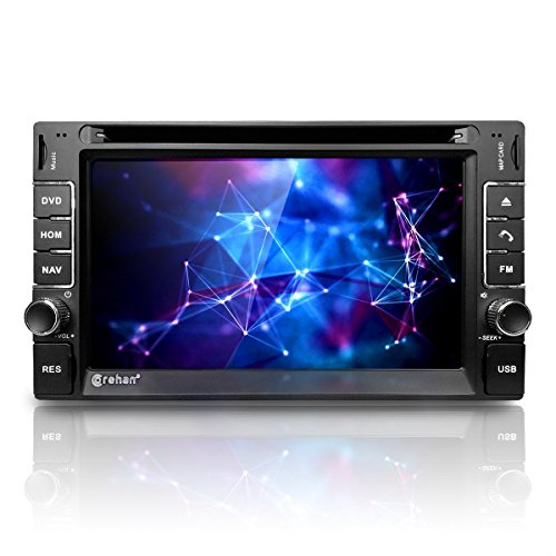"Corehan 6.2"" Touchscreen in Dash Double Din GPS Navigation Vehicle Car Dvd Player Stereo Reciver with Bluetooth USB"