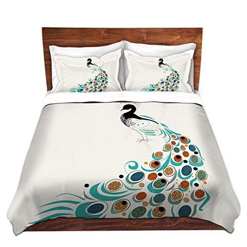 Peacock Print Bedding Set front-136891