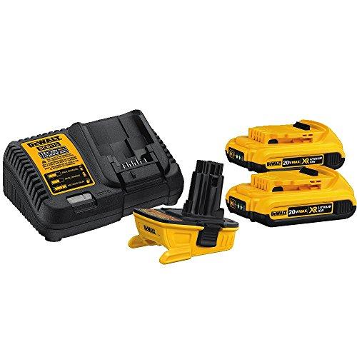 DEWALT DCA2203C 20-Volt MAX Battery Adapter Kit for 18-Volt Tools (Dewalt 18v Battery compare prices)