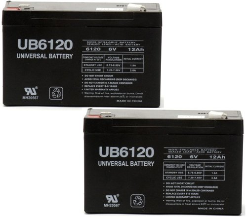 6Volt 12Amp Deep-Cycle Rechargeable Sealed Energy Storage Battery 12Ah 6V - 2 Pack