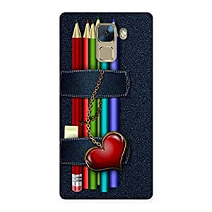 Gorgeous Denim Pencil Print Back Case Cover for Huawei Honor 7