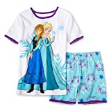 Disney Frozen Anna and Elsa Girls Two Piece Pajama Set - Size 3