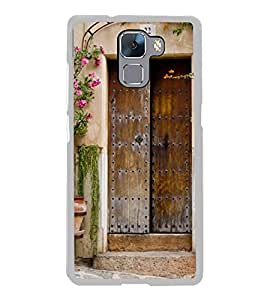 Vintage Door 2D Hard Polycarbonate Designer Back Case Cover for Huawei Honor 7 :: Huawei Honor 7 Enhanced Edition :: Huawei Honor 7 Dual SIM