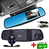 Dash Cam, RX 32GB Dual Lens Car Camera, Car Video Recorder for Vehicles Front and Rear DVR, 4.3