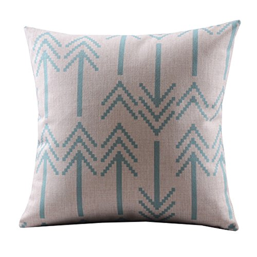 "Create For-Life Cotton Linen Decorative Pillowcase Throw Pillow Cushion Cover Square 18"" Retro Orange Bold Arrows"