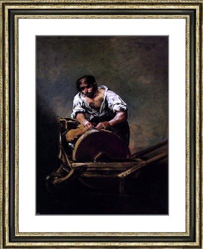 """Francisco Jose de Goya Y Lucientes Knife Grinder - 25"""" x 29"""" Matted Framed Premium Archival Print"""