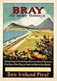 Vintage Travel IRELAND See BRAY in COUNTY WICKLOW 250gsm ART CARD Gloss A3 Reproduction Poster