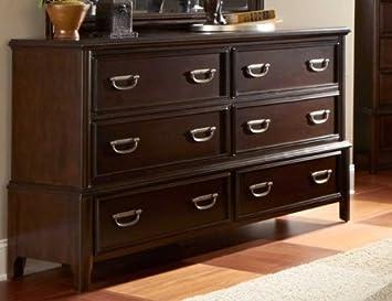 Homelegance Beaux 6 Drawer Dresser In Dark Cherry