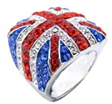 Celebrate the London Olympics with a Jumbo Union Jack Flag HipHop Bling Ring