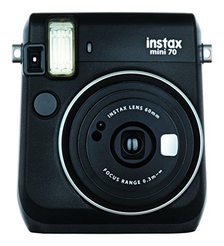 FUJIFILM インスタントカメラ チェキ instax mini70 ブラック INS MINI 70 BLACK