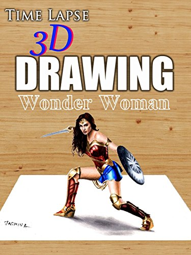 Clip: Time Lapse 3D Drawing: Wonder Woman