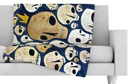 Skull Throw Blanket back-1078006