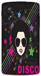 Timpax Protective Hard Back Case Cover With Easy access to all ports Printed Design : Man and music.Exactly Design For : Google Nexus-5