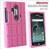 [docomo AQUOS PHONE(SH-12C)専用] チョコレートシリコンケース(いちごミルクなストロベリーチョコ)【ジャケット/カバー】【スマートフォン/アクオスフォン/Android/アンドロイド/SH12C】
