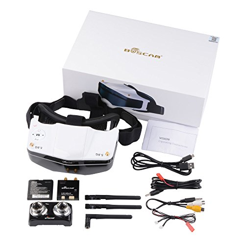 XCSOURCE BOSCAM GS909 5.8G 32CH Video FPV Goggles Glasses with Double Transmitting Lens 2D/3D Free Switching RC340