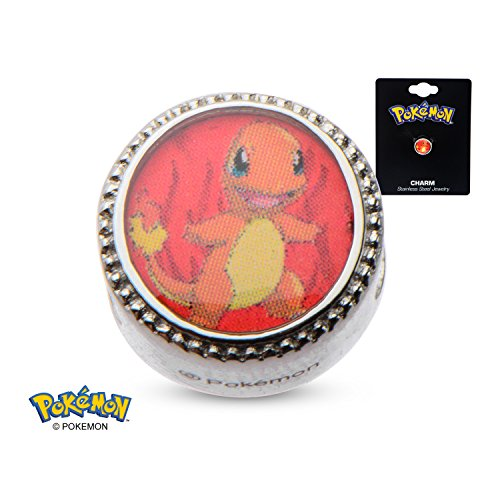 Pokemon Charmander Fire Flame 316L Stainless Steel Bead Charm