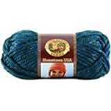 Lion Brand Yarn 135-212 Hometown USA Yarn, Lake Tahoe Blue