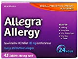 51jYJHdtmML. SL160  Allegra 24 Hour Allergy Relief, 180 mg, 45 Count