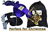 Driftsun Sports Slackline Complete Kit – 50FT Classic Slacklining Line with Training Line and Tree Guards