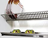 Glass and plate tray with Drip tray (600 mm)- silver-1 pc
