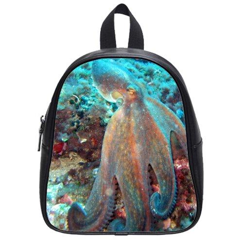 personality Octopus vulgaris1 Custom Kids School Backpack Bag(Small) wonderful