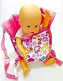 Johntoy Baby Puppentrage Tragesitz mit schönem bunten Muster für die Puppenmamas