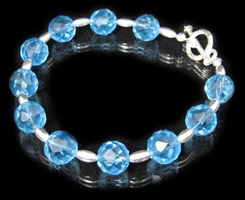 Blue Crystal Bracelet by Dragonheart – 20cm