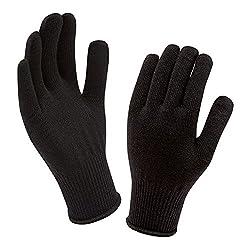 Ice Bear Black Woolen Gloves