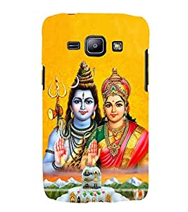 Shiva Paravati 3D Hard Polycarbonate Designer Back Case Cover for Samsung Galaxy J2 (2015) :: Samsung Galaxy J2 J200F