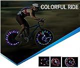 Zatous(ザータス)夜道に目立つ 24種類の発光パターン  32LED自転車ホイールライト 両面発光 防水 自動ON.OFF A09