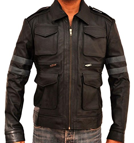 [Resident Evil 6 Leon S. Kennedy Faux Leather Jacket] (Leon S Kennedy Resident Evil 6 Costume)