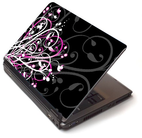 "Pink pizzazz - Toshiba Lapjacks skin to fit 15"" Laptops"