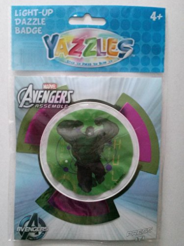 Yazzles Light-Up Dazzle Badge, Hulk