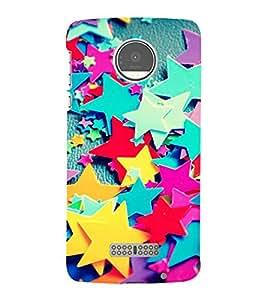 Multi colour Stars 3D Hard Polycarbonate Designer Back Case Cover for Motorola Moto Z :: Motorola Moto Z Droid in USA