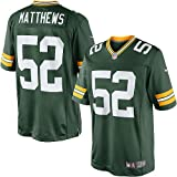Clay Matthews Green Bay Packers NFL Green Game Day Replica Jersey