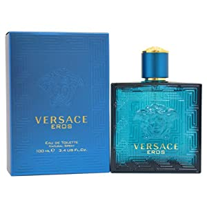 Versace Eros Eau de Toilette Spray for Men, 3.4 Ounce