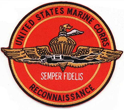 """United States Marine Corps Reconnaissance Patch - Large 5 5/8"""" X 5"""" Highly Detailed Marine Recon Embroidered Patch - Semper Fidelis - Marsoc - Usmc Reconnaissance -Camp Pendleton - Non-Merrowed With A Wax Backing."""