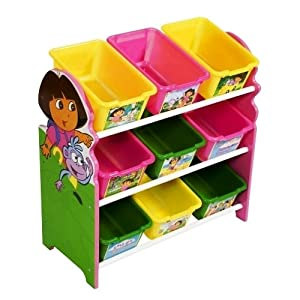 Nick Jr Dora The Explorer 3-tier 9 Bin Toy Organizer from Delta Children's Products