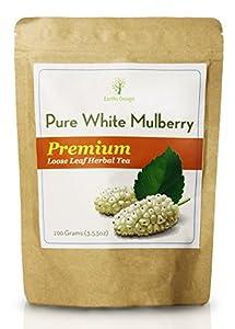 Pure White Mulberry Tea - Morus Alba, Pure Loose Leaf Tea, 100 grams