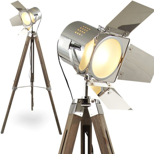 MOJO® Stehleuchte Tripod Stehlampe Dreifuss Lampe Urban Industrial Design l37