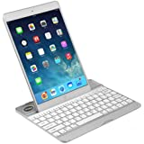 New Slim Thin Light Weight Aluminum Wireless Bluetooth Keyboard Case for Apple iPad5 IPad Air Support sleep and wake up function