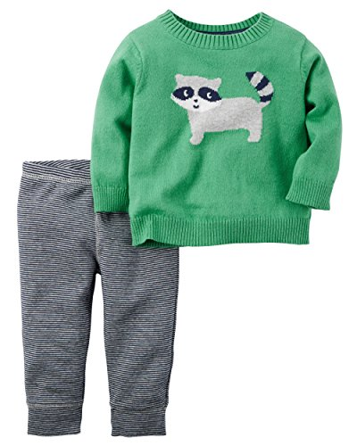 Carter's Baby Boys 2 Pc Sets, Green, 24 Months