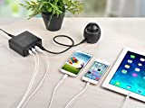 RAVPower® 30W/6A USB Travel Wall Charger / USB Desktop Charge 4-Port Rapid Charging Station iSmart for iPhone 6 plus 6 5s 5c 5 4s 4; iPad 5 Air Mini; Samsung Galaxy S5 S4 S3 S2 Note 4 3 2; Kindle Fire HD HDX; Google Nexus 4 5 7 10; Motorola Droid Razr Maxx Moto X; HTC One X V S LG G2; Nokia Lumia 920 1020 1520 2520; PS 4; Bluetooth Speakers & Headsets; External Battery Packs and More