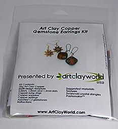 Art Clay Copper Gemstone Earrings Kit