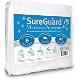 Crib Size SureGuard Mattress Protector - 100% Waterproof, Hypoallergenic - Breathable Soft Cotton Terry Cover - Perfect Baby Shower Gift - Superior Quality - 30 Day Return Guarantee - 10 Year Warranty
