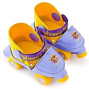 Disney Winnie Pooh Rollschuhe für Kinder ab 3 Jahren verstellbar mit 3 Funktionen: Totalblockierung - Vorwärts - Gleiten