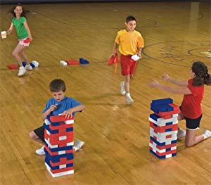 S&S Worldwide Patriotic Super Tumbling Timbers by S&S Jumbo Games