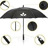 GolfUp Fiberglas Regenschirm - 130 cm groß XXL -...